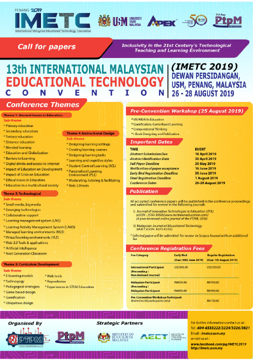 PTPM - IMETC (Call for Papers)